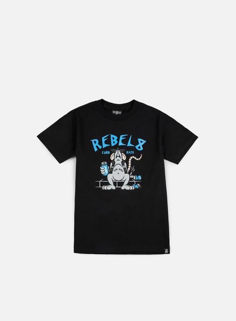 Outlet e Saldi T-shirt a Manica Corta Rebel 8 Curb Rats T-shirt