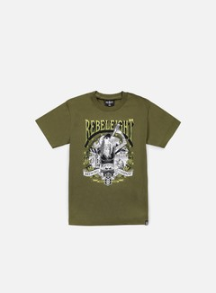 Rebel 8 - Drink Like A Fish T-shirt, Military Green