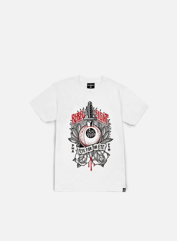 Rebel 8 - Eye For An Eye T-shirt, White