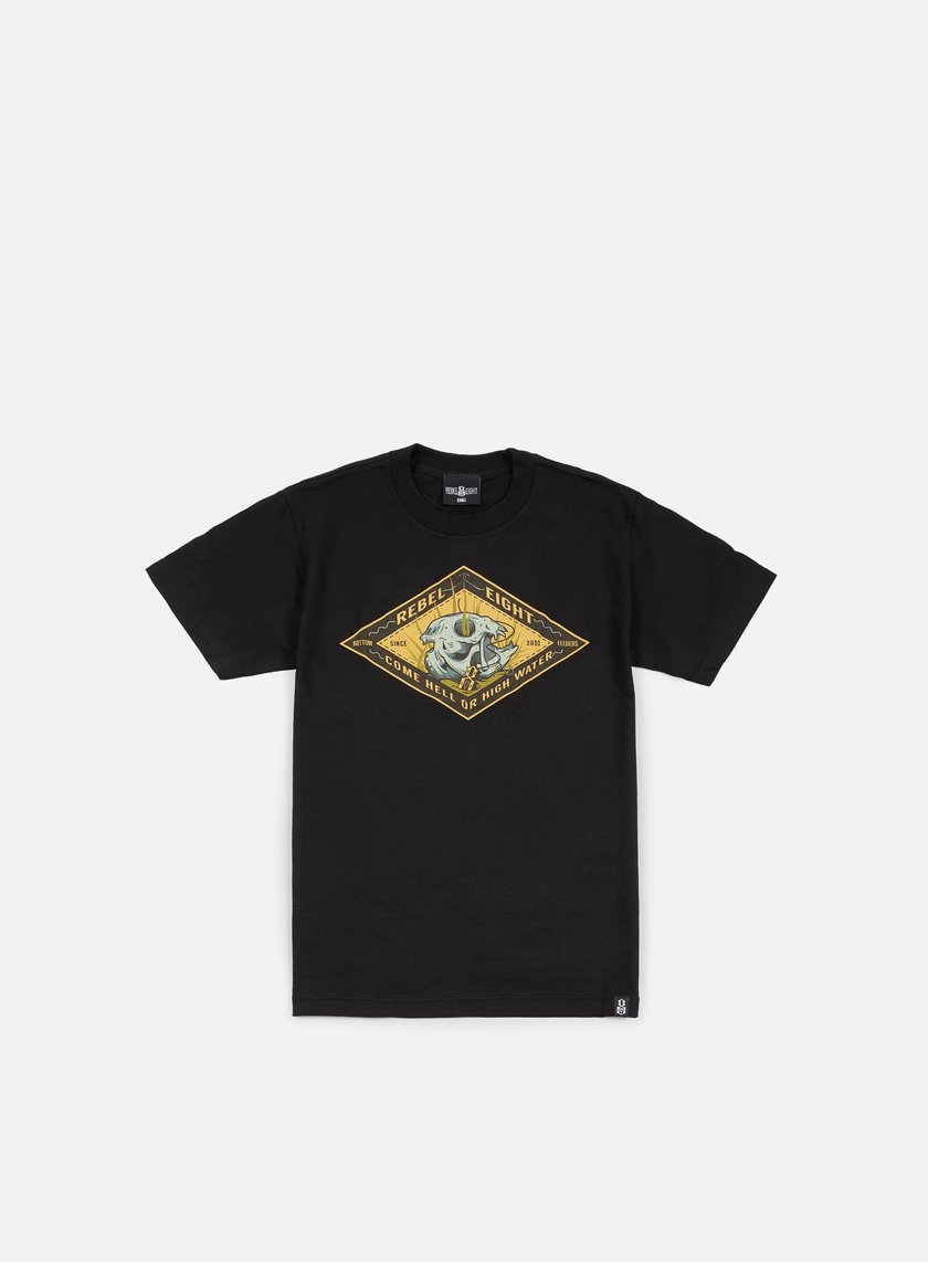 Rebel 8 - High Waters T-shirt, Black