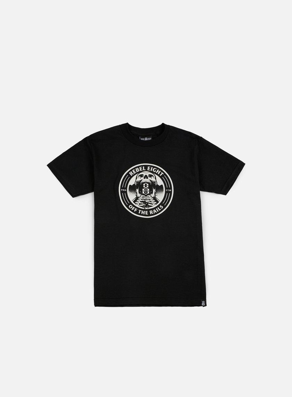 Rebel 8 - Off The Rails T-shirt, Heather Black