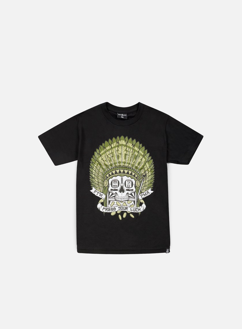 Rebel 8 - Press Your Luck T-shirt, Black