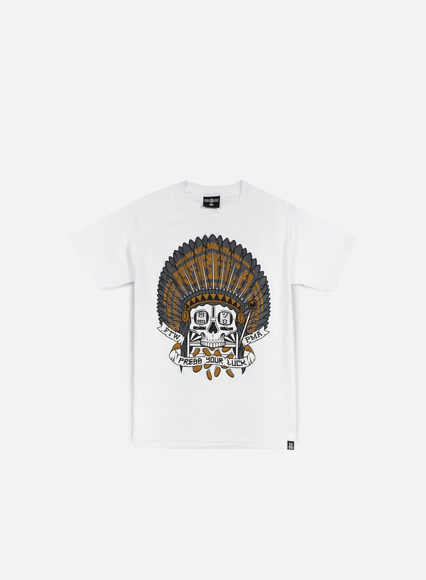 Rebel 8 - Press Your Luck T-shirt, White