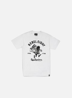 Rebel 8 - Riot Regulators T-shirt, White