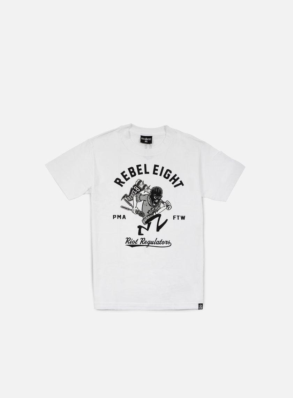 Rebel 8 - Riot Regulators T-shirt, White