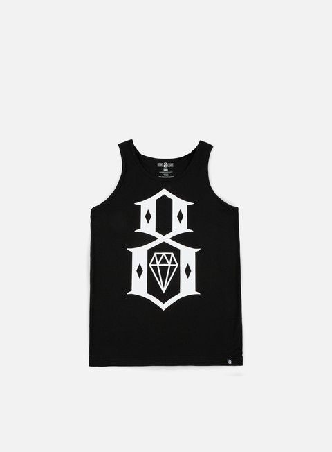 t shirt rebel 8 standard issue logo tank top black