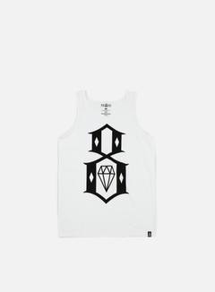 Rebel 8 - Standard Issue Logo Tank Top, White 1