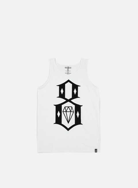 t shirt rebel 8 standard issue logo tank top white