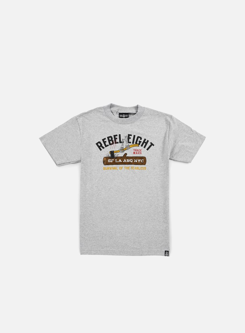 Rebel 8 - Survival Of The Fearless T-shirt, Athletic Heather