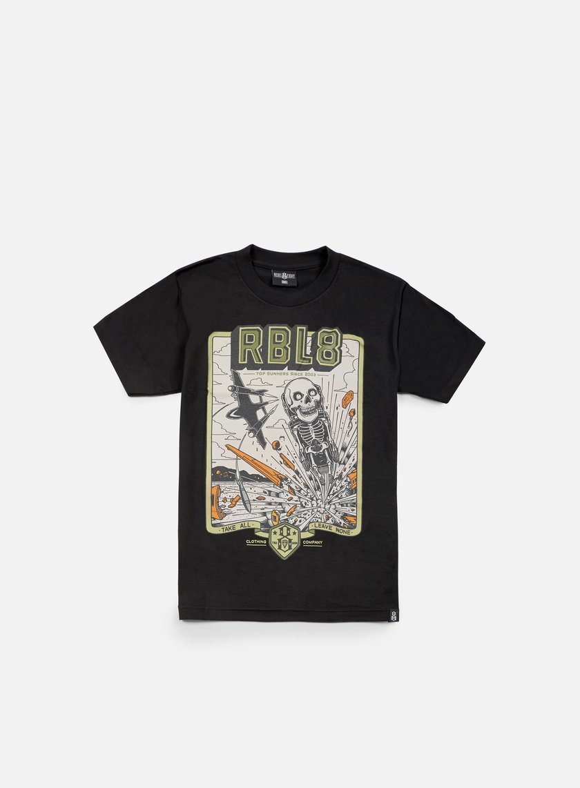 Rebel 8 - Top Gunner T-shirt, Black