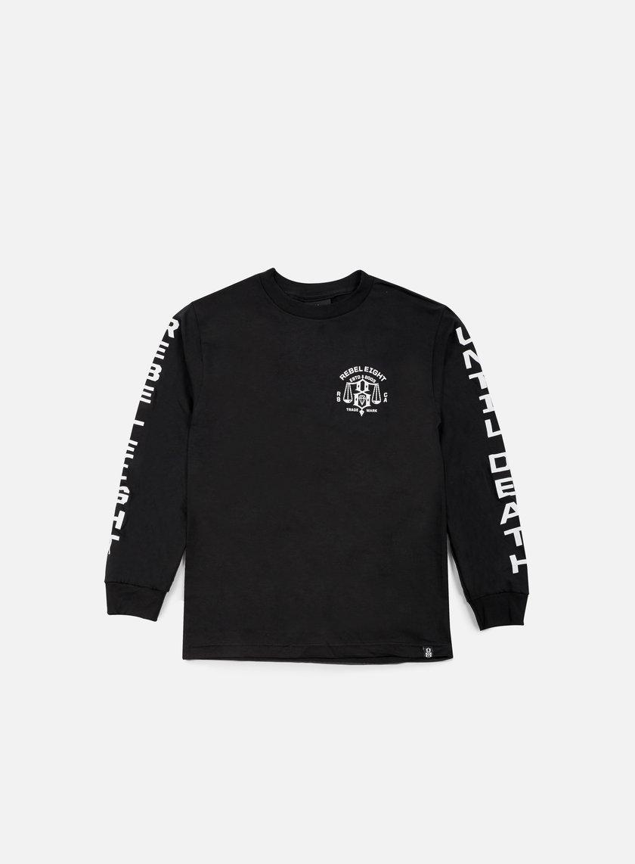 Rebel 8 - Until Death LS T-shirt, Black