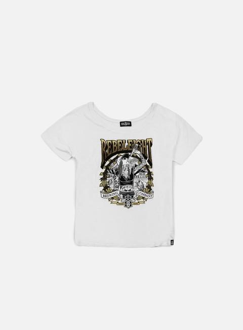 Outlet e Saldi T-shirt a Manica Corta Rebel 8 WMNS Drink Like A Fish T-shirt