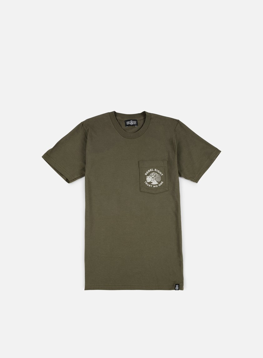 Rebel 8 - WMNS Two Faced Pocket T-shirt, Military Green