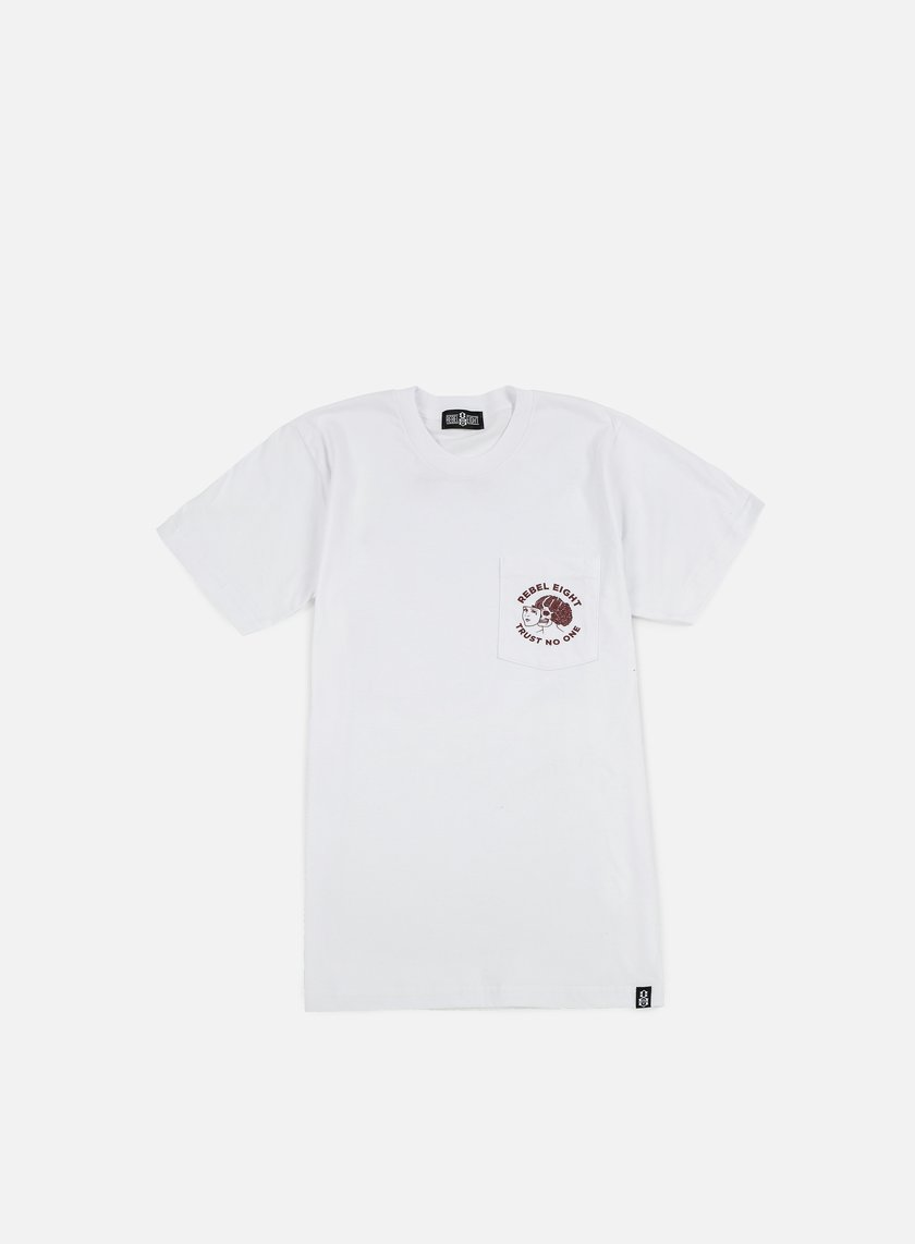 Rebel 8 - WMNS Two Faced Pocket T-shirt, White
