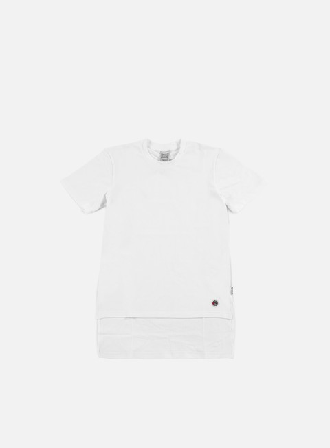 t shirt reebok beams dropped hem t shirt white