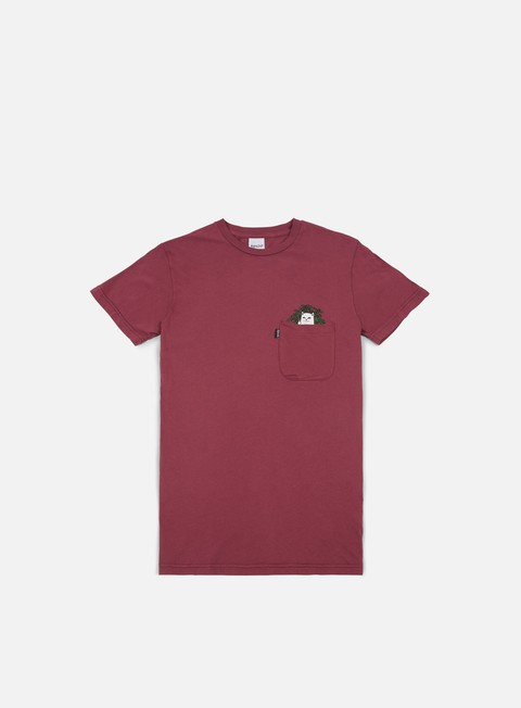 t shirt rip n dip cat nip pocket t shirt burgundy