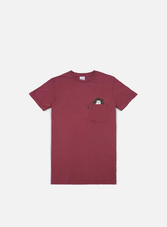 Rip N Dip - Cat Nip Pocket T-shirt, Burgundy