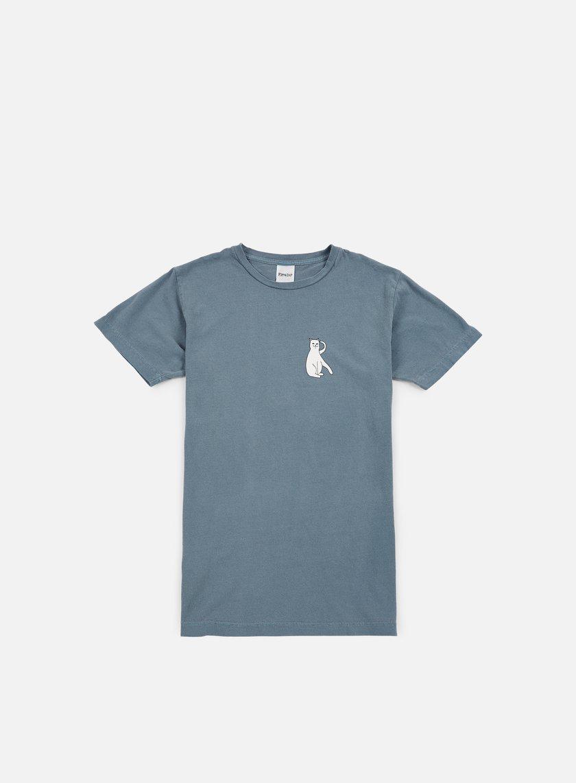 Rip N Dip - Cats T-shirt, Blue Pigment Wash