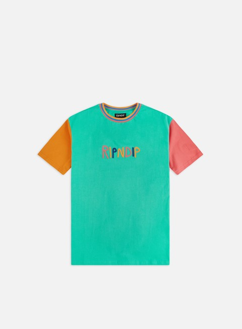 T-shirt a Manica Corta Rip N Dip Color Block Multi Panel T-shirt
