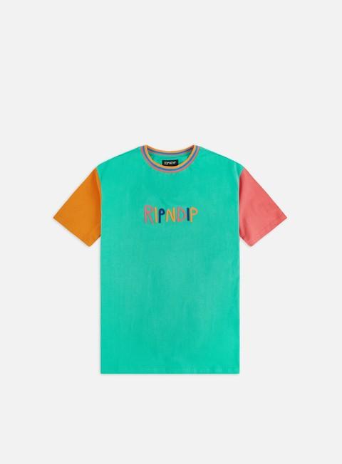 Short Sleeve T-shirts Rip N Dip Color Block Multi Panel T-shirt