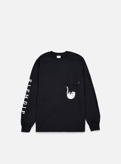 Rip N Dip - Falling For Nermal Pocket LS T-shirt, Black 1