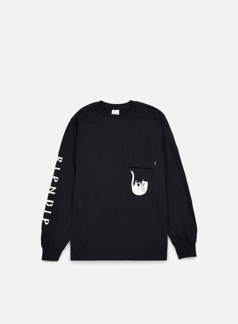 Long Sleeve T-shirts Rip N Dip Falling For Nermal Pocket LS T-shirt
