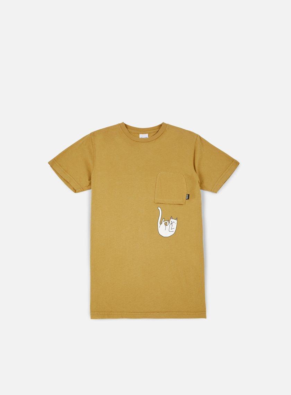 Rip N Dip - Falling For Nermal Pocket T-shirt, Burnt Orange