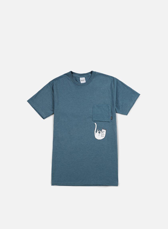 Rip N Dip - Falling For Nermal Pocket T-shirt, Indigo Heather