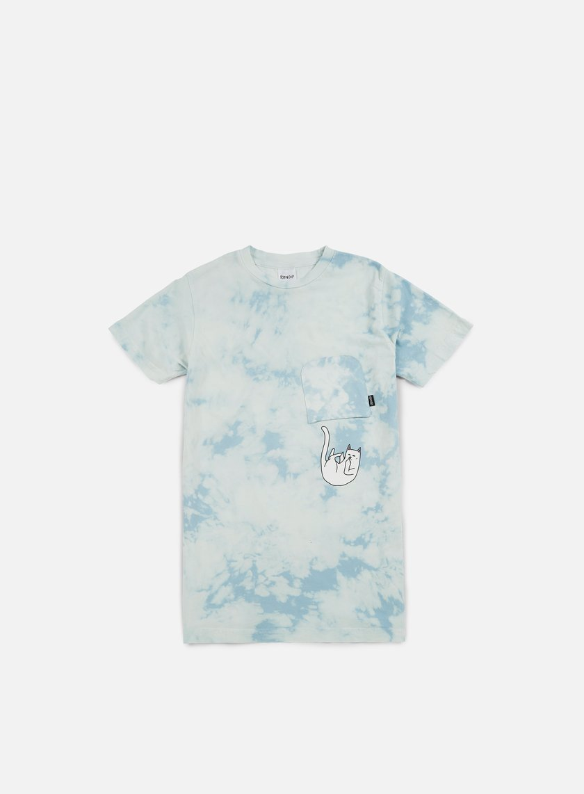 Rip N Dip - Falling For Nermal Pocket T-shirt, Light Blue Lighting Wash