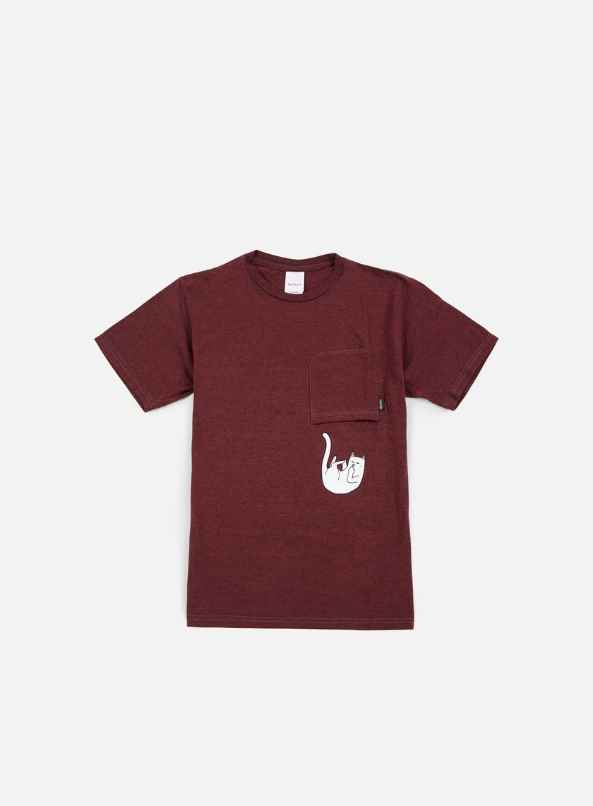Rip N Dip - Falling For Nermal Pocket T-shirt, Maroon