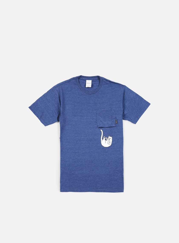 Rip N Dip - Falling For Nermal Pocket T-shirt, Navy Tri Blend