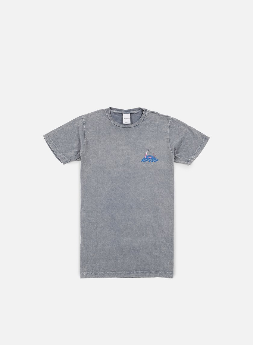 Rip N Dip - Flamingo Vacation T-shirt, Washed Grey