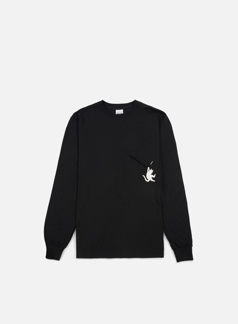 Sale Outlet Pocket T-shirts Rip N Dip Hang In There LS T-shirt