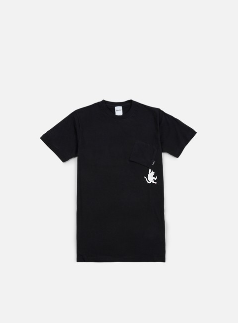 t shirt rip n dip hang in there nermal pocket t shirt black