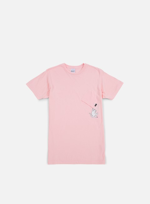 t shirt rip n dip hang in there nermal pocket t shirt pink
