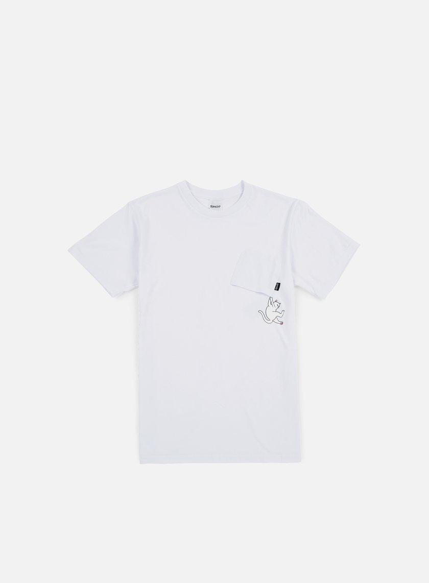 Rip N Dip - Hang In There Nermal Pocket T-shirt, White