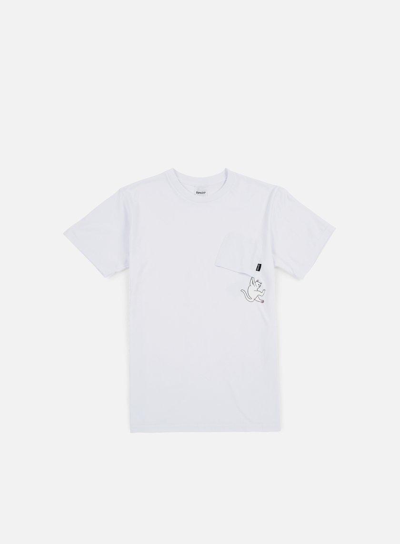 Rip N Dip - Hang In There Nermal Pocket T-shirt, White