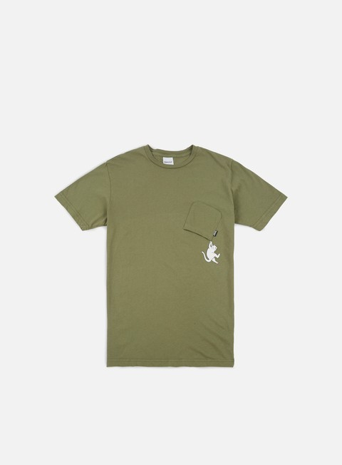 t shirt rip n dip hang in there pocket t shirt moss