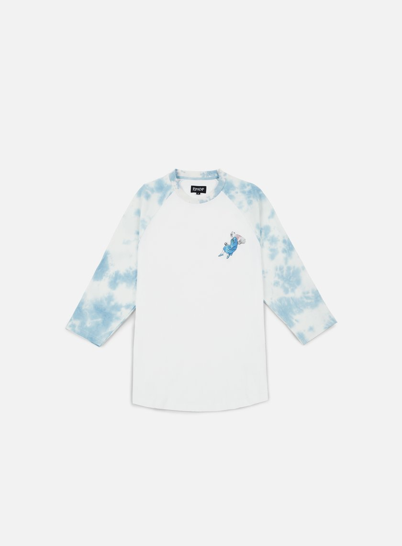 Rip N Dip - Heaven And Hell Raglan Sleeves T-shirt, White/Tie Dye