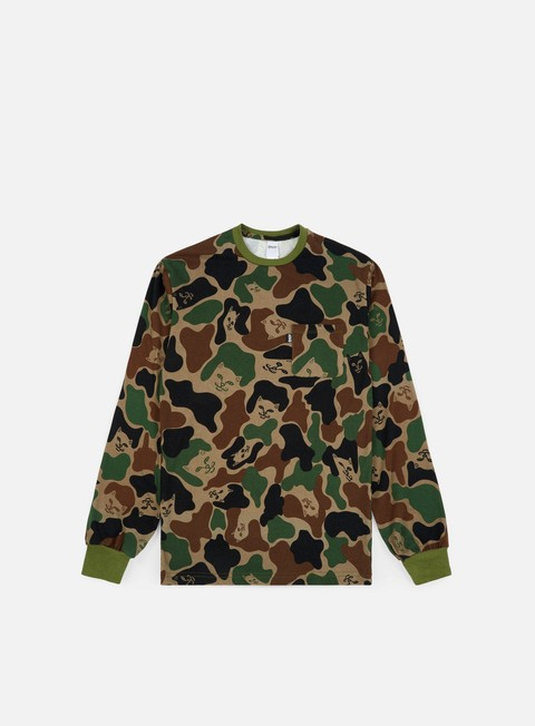 t shirt rip n dip lord nermal pocket ls t shirt army camo
