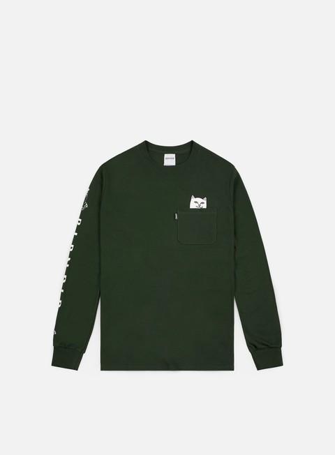 t shirt rip n dip lord nermal pocket ls t shirt hunter green
