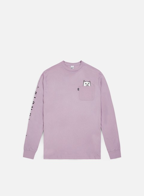 t shirt rip n dip lord nermal pocket ls t shirt lavender