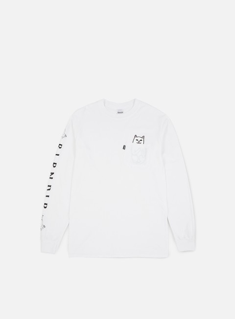 t shirt rip n dip lord nermal pocket ls t shirt white