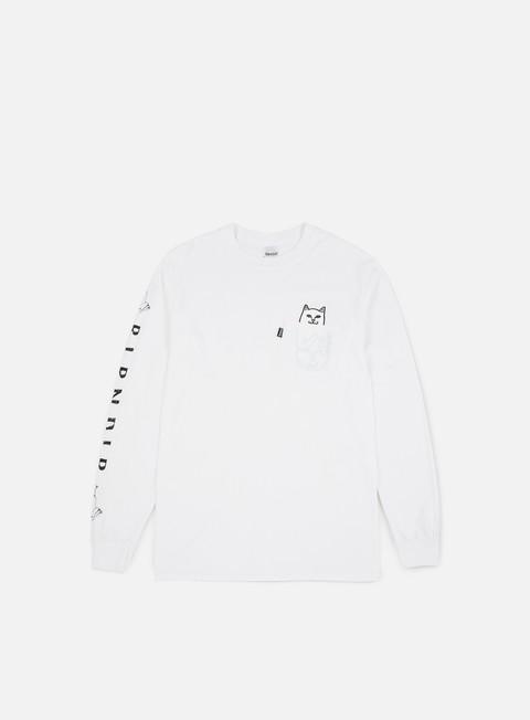 Outlet e Saldi T-shirt a Manica Lunga Rip N Dip Lord Nermal Pocket LS T-shirt