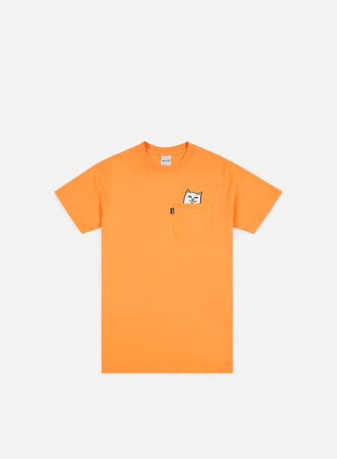 t shirt rip n dip lord nermal pocket t shirt over dyed orange