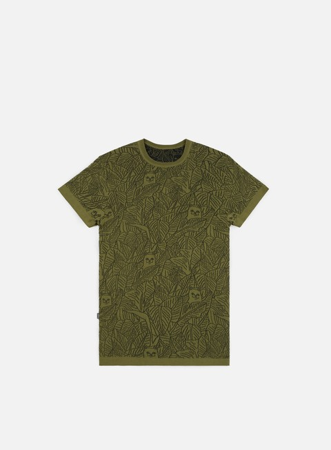 t shirt rip n dip nermal leaf knit t shirt olive