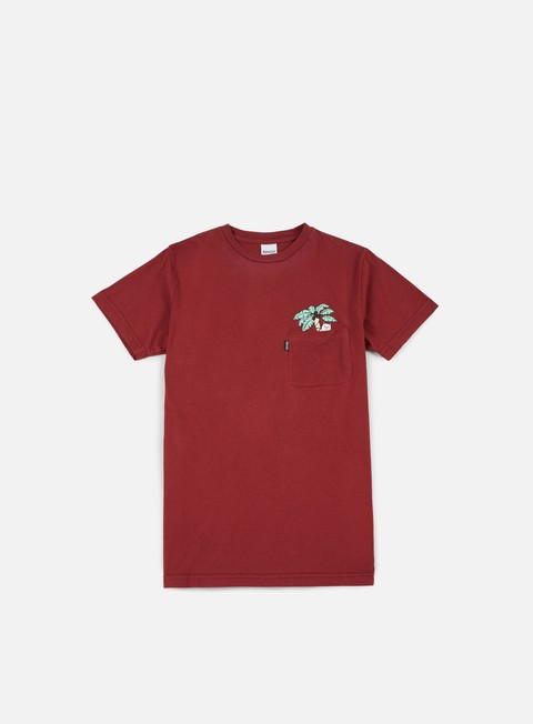 t shirt rip n dip nermal leaf pocket t shirt terracotta