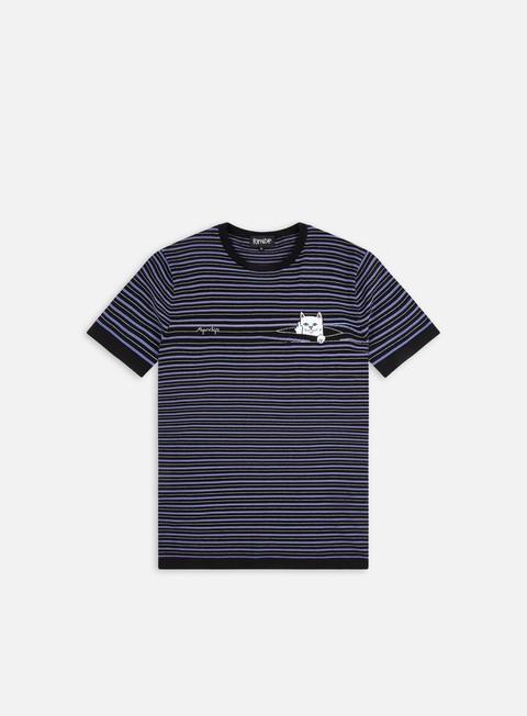Short sleeve T-shirts Rip N Dip Peeking Nerm Jacquard Knitted T-shirt