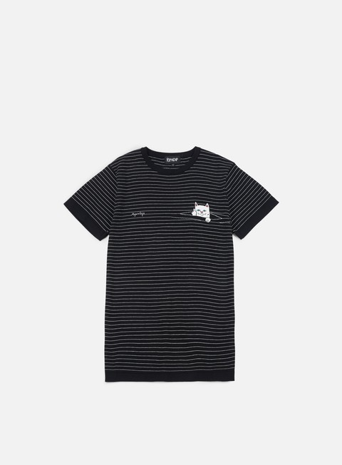 t shirt rip n dip peeking nermal stripes t shirt black