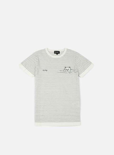 t shirt rip n dip peeking nermal stripes t shirt white